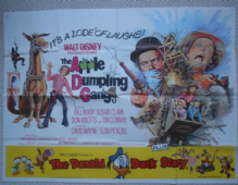 Apple Dumpling Gang/Donald Duck Story, Original UK Quad Poster, Bill Bixby, '75